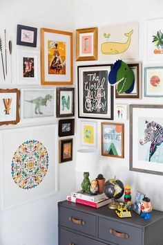 Awesome gallery wall, don't think I could swing it. How to transition a nursery into a toddler bedroom with new children's bedroom collection: Pillowfort Kids Bedroom, Bedroom Decor, Childrens Bedrooms Boys, Bedroom Wall, Bedroom Ideas, Design Bedroom, Nursery Decor, Kids Decor, Home Decor