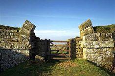Roman gateway through Hadrian's Wall at Milecastle 37, Bardon Mill, Northumberland
