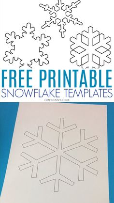 Free Snowflake Template Free snowflake PDFs - one large snowflake design and three smaller snowflakes - perfect for winter crafts for kids, christmas crafts and winter art ideas Winter Activities For Kids, Winter Crafts For Kids, Winter Kids, Kids Crafts, Winter Art Kindergarten, Winter Crafts For Preschoolers, Winter Preschool Crafts, Winter Preschool Activities, Snow Crafts