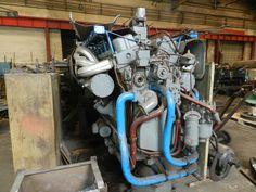M40-112 Azért van jó hírem is: az FVCSM-től kimenekitett komplett motor (mindössze 100 órát futott tartalék.... (Istvántelki főműhely - MÁV Nosztalgia)