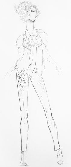 The Cosmic Sutra quick sketch Fashion Illustrations, Fashion Sketches, Quick Sketch, Pattern Illustration, Cosmic, Patterns, Drawings, Ideas, Design