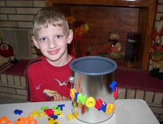 Paint Can With Magnetic Letters and Numbers