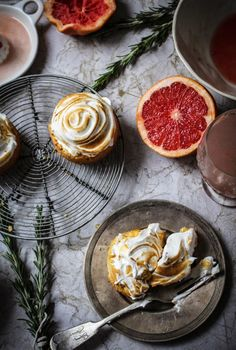 these little meringue tarts are so nice, they have a breton biscuit base laced with rosemary and...