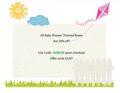 20% off all baby shower theme parties!| Quick Party Box
