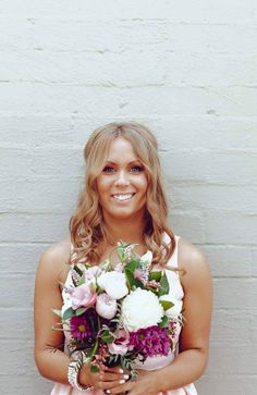 Wedding bouquet for a rustic wedding. Wedding flowers. Bridal party.