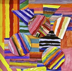 PS 58 Fifth Grade Piece  Good for Color Theory (warm/cool, analogous, complementary, etc.)