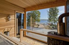 Modern Log Cabin Home Kits by HONKA - Prefab Log Cabin Kits in Finland - These 8 Log Cabin Kit Homes Celebrate Nordic Minimalism – Photo 8 of 20 – The solar panels on t - Log Cabin Home Kits, Cabin Kit Homes, Small Log Cabin Kits, Log Homes, Tiny Homes, Barn Homes, Prefab Log Cabins, Modern Log Cabins, Saunas