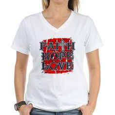 Aplastic Anemia Faith Hope Love shirts featuring a grunge design and a cross for hope #aplasticanemia #aplasticanemiaawareness #aplasticanemiashirts