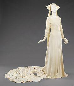 Wedding Ensemble Elizabeth Hawes, 1934 The Metropolitan Museum of Art