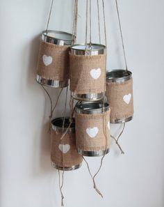 Tin Can Wedding Car Decorations by UniqueItemsMBA on Etsy…
