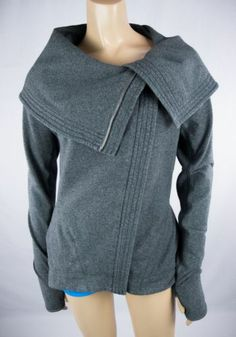 LULULEMON Fast Forward Jacket Heathered Gray High Collar Super Rare! Sz S