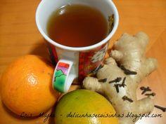 Delicinhas e Coisinhas: Chá de Gengibre e Laranja para Tosse