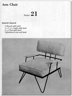1957 BUILD MODERN METAL FURNITURE U0026 HOME FURNISHINGS 58 PROJECTS Mid  Century ++