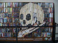 Skull book display