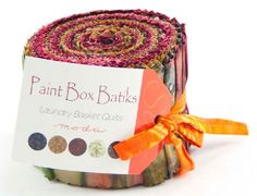 Moda - Laundry Basket Quilts - Paint Box Batiks - Junior Jelly Roll