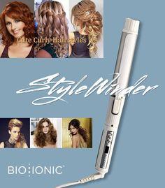 Crea un'esplosione di ricci, con StyleWinder di Bio Ionic puoi! Perchè è il ferro rotante con la miscela di 32 minerali idratanti e condizionanti sui capelli: 0% capelli bruciati, 100% benessere su ogni tipo di ricci :-)