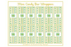Free Luck of the Irish St. Patrick's Day mini candy bar wrapper printable
