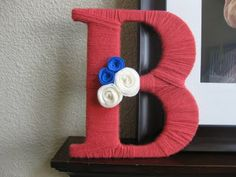 Yarn letters -- cute idea to display baby's name