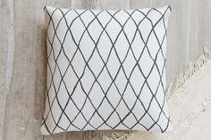 Criss-Crossed Pillow by Hooray Creative | Minted