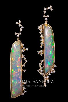 Ethiopian opals earrings