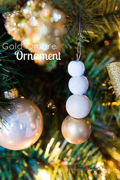 A simple DIY decor for your christmas tree, or a lovely gift topper.
