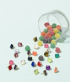 Candy colors! Want all of these Kate Spade New York stud earrings.