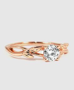 Rose Gold Willow Diamond Ring
