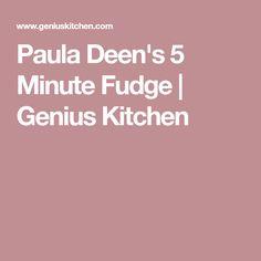 Paula Deen's 5 Minute Fudge   Genius Kitchen