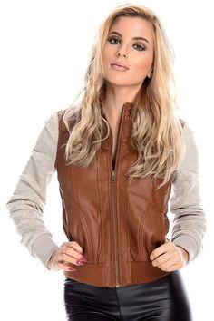 brown jacket#leather jackeT#cropped jacket#bomber jacket#moto ...