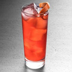 Americano Cocktail - Campari, Cinzano Rosso Vermouth, Club Soda, Orange Twist.