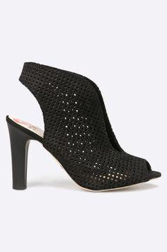 Carinii - Botki Heeled Mules, Peeps, Kitten Heels, Peep Toe, Shoes Heels, Model, Fashion, Moda