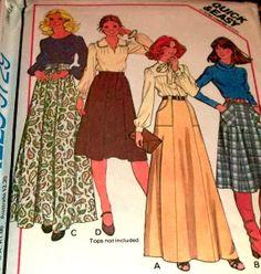 70s Sewing Pattern Mod Maxi Skirt Hippie by hookandneedlepattern, $5.00