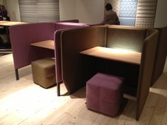 #study carrels by #BuzziSpace, #acoustics Library Design, Cafe Design, Interior Design, Library Cafe, Library Furniture, Ikea Bed, Fantasy House, Study Areas, Restaurant Design