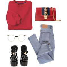 A fashion look from January 2018 featuring INC International Concepts sweatshirts, Cheap Monday jeans and Balenciaga ankle booties. Browse and shop related loo…
