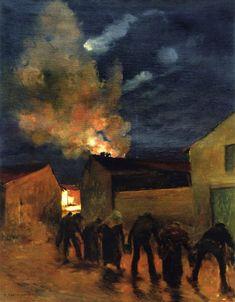 "Jules Bastien-Lepage (Jules Bastien Lepage) - ""The Chain"" c.1882"