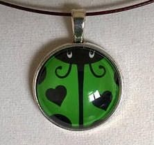 Green Necklace, Pendant Necklace, Girl Gifts, Ladybug, Belly Button Rings, Jewelry Box, Pendants, Bracelets, Glass