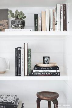Styled Bookshelf, living space, #homegoals