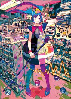 MKP! 初出:初音ミクライブパーティー2013in Kansai「ミクパ♪」パンフレット ざいん #art #illustration #manga…