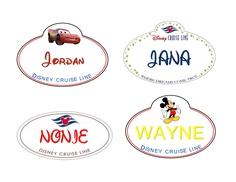 Disney Cruise personalized cabin door magnets - Set of 4. $12.00, via Etsy.    Parkin Family  Rob  Tonja  Ellyn