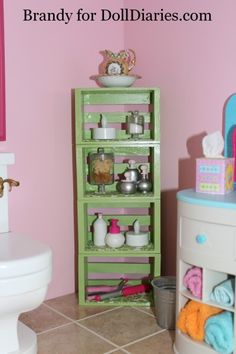 Decorate Your Dollhouse Bathroom — bath salt containers made of beads, bead containers and buttons
