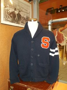 Classic Preppy Vintage Style Varsity Syracuse sweater from The Vault.