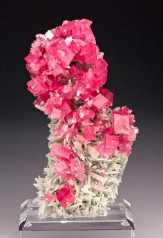 Rhodochrosite w/Quartz - Hedgehog Pocket, Sweet Home Mine,  Park Co., CO, 11.5 x 5.2 x 2.2 cm (cabinet) . 20,000 USD