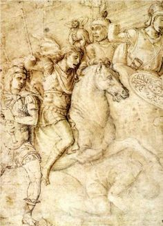 Study of an Ancient Bas Relief of the Arch of Constantine - Andrea Mantegna