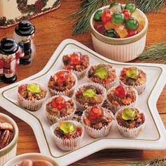 Bite-Size Fruitcakes - my absolute all time favorites.