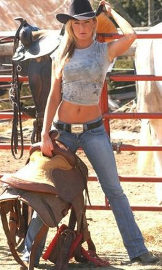 Cowgirl Ready to Ride