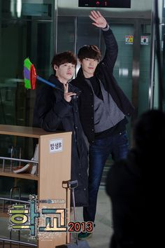 school 2013 | Tumblr Lee Jong Suk Kim Woo Bin, Lee Jung Suk, Korean Drama Movies, Korean Actors, Korean Dramas, Kim Wo Bin, Kang Sora, School 2013, Won Bin