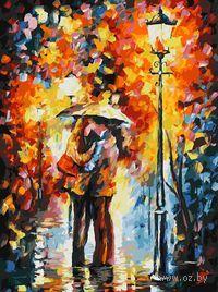 Картина по номерам `Поцелуй под дождем` (400х300 мм)