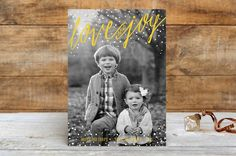 Snowy Love and Joy by Melanie Severin at minted.com
