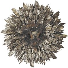 Metal Foliage Explosion Wall Art ($147) ❤ liked on Polyvore featuring home, home decor, wall art, extras, filler, flowers, furniture, circle, circular and round