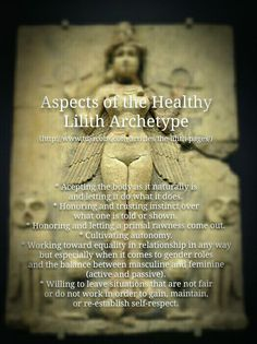 Aspects of the Healthy Lilith Archetype - Tom Jacobs Sacred Feminine, Divine Feminine, Lilith Symbol, Lillith Goddess, Divine Goddess, Eclectic Witch, Gods And Goddesses, Book Of Shadows, Archetypes